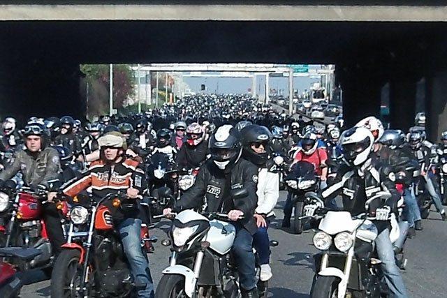 Массовый протест байкеров Франции