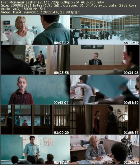 Monsieur Lazhar (2011) 720p BDRip x264 AC3-Zoo