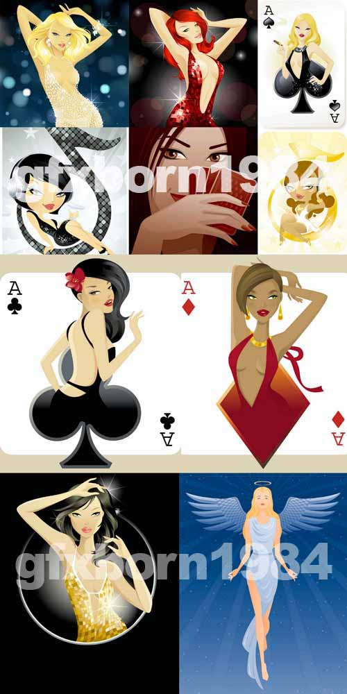 50 AI Girls&Playing Cards