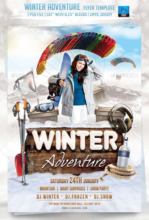 GraphicRiver Winter Adventure Flyer Template
