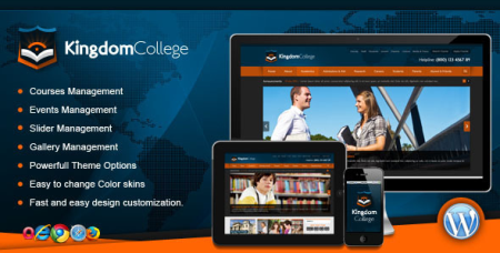 Kingdom - ThemeForest College Educational WordPress Theme
