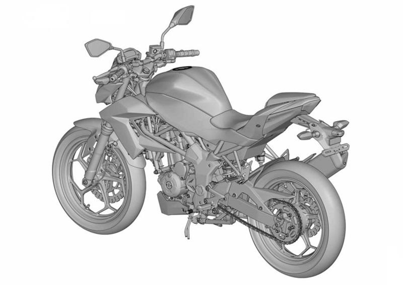 Kawasaki запатентовали малокубатурный нейкед