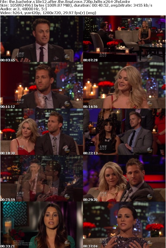 The Bachelor S18E12 After The Final Rose 720p HDTV x264-2HD