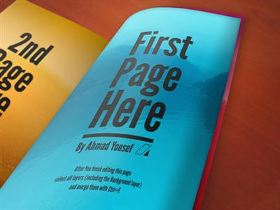 One Page Magazine Mock up Template PSD