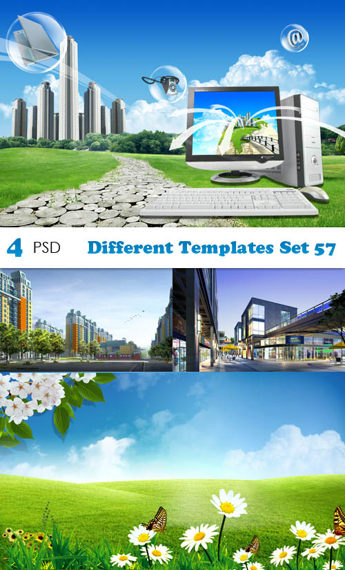 PSD - Different Templates Set 57