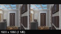 Дизайн интерьера в 3Д / 3D  Горизонтальная анаморфная