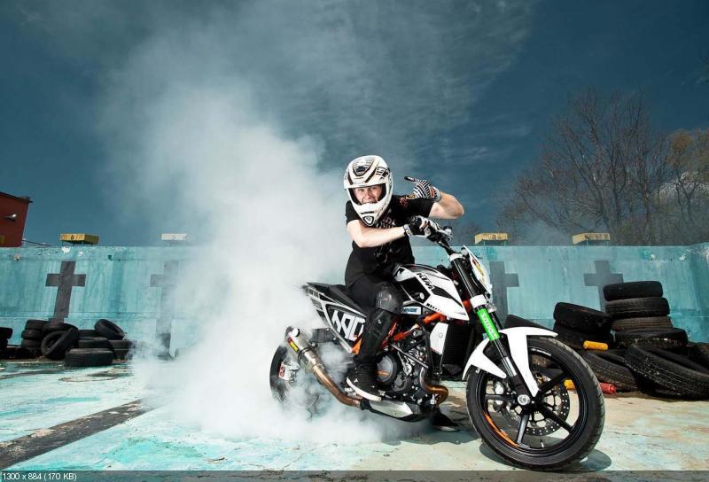 Рок Багорош и его новый стантбайк KTM 690 Duke