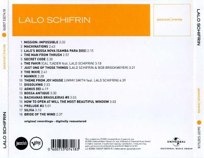Lalo Schifrin (Mission Impossible and Other Thrilling Themes)/ 2008 Universal Music Classics & Jazz