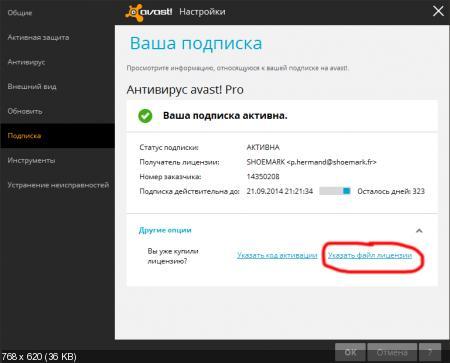 Avast Pro Antivirus 2014 Ключ