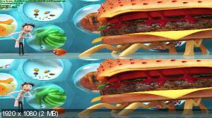 Без черных полос (На весь экран) Облачно... 2: Месть ГМО 3Д / Cloudy with a Chance of Meatballs 2 3D (Лицензия by Ash61) Вертикальная анаморфная