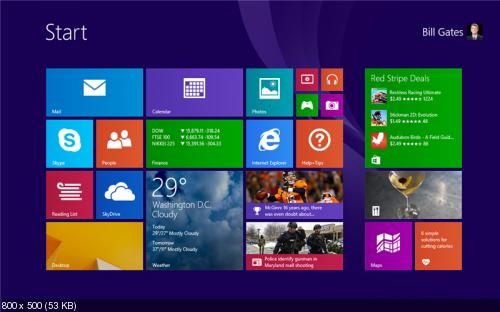Windows 8.1 Pro with Media Center & Microsoft Office Pro Plus 2013 (Final, En, Ru, x86, x64)