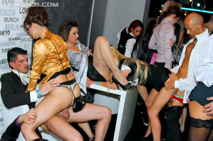 Woman having orgy