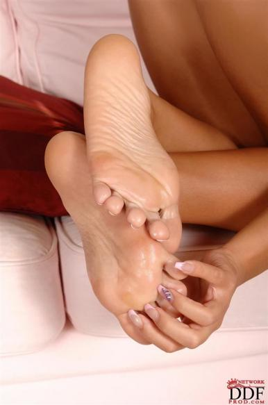 Foot fetish close up